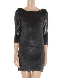 IRO - Black Cloe Sequined Mini Dress - Lyst