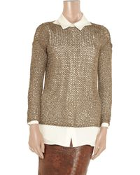 Kelly Bergin - Metallic Open-knit Sweater - Lyst