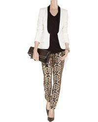 A.L.C. - White Ruby Wool-blend Crepe Tuxedo Jacket - Lyst