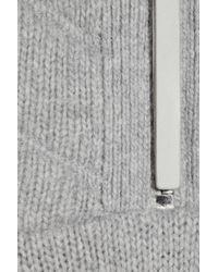 Alexander Wang - Gray Knit & Silk-degrade Sweater Dress - Lyst