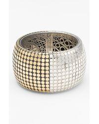 John Hardy | Metallic Dot Gold Silver Wide Hinged Cuff | Lyst