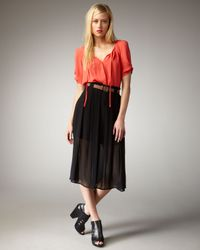 Joie | Black Mahina Belted Skirt | Lyst