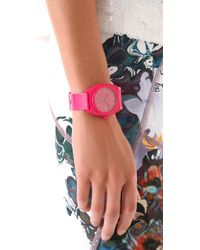 Nixon | Pink The Time Teller P Watch | Lyst
