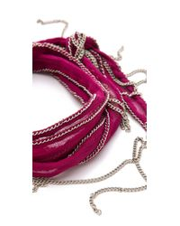 Chan Luu - Pink Silk Chain Wrap Bracelet - Lyst