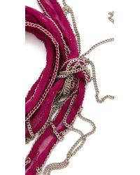 Chan Luu   Pink Silk Chain Wrap Bracelet   Lyst
