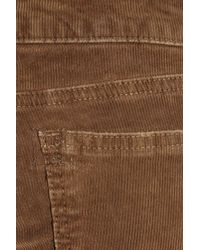 Current/Elliott - Brown The Cowboy Mid-rise Bootcut Stretch-corduroy Jeans - Lyst