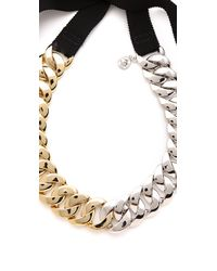 Marc By Marc Jacobs   Metallic Pretty Turnlock Necklace   Lyst