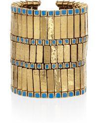 Aurelie Bidermann - Metallic Mendoza 18karat Goldplated Bracelet - Lyst