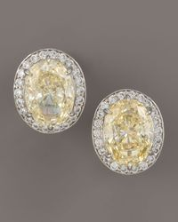 Fantasia by Deserio - Metallic Canary Cubic Zirconia Earrings - Lyst