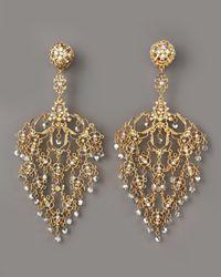 Jose & Maria Barrera | Metallic Deco Filigree Earrings Gold | Lyst