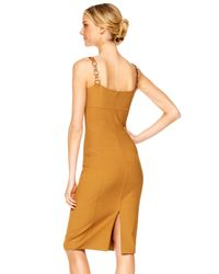 Michael Kors - Brown Leather-strap Sheath Dress - Lyst