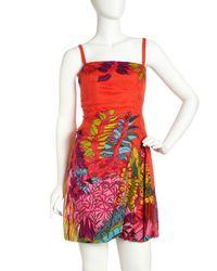 Nanette Lepore   Orange Tropical Heat Dress   Lyst