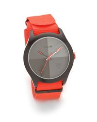 Nixon | Orange The Quad Watch | Lyst