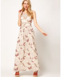Oasis Butterfly Shadow Maxi Dress - Lyst