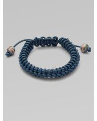 Stephen Webster | Blue No Regrets Woven Leather Bracelet for Men | Lyst