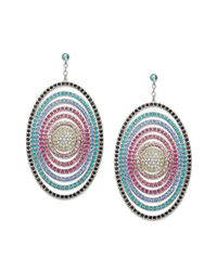 Swarovski - Natural Rainbow Crystal Oval Earrings - Lyst