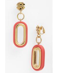 Tory Burch | Pink Heidi Drop Earrings | Lyst
