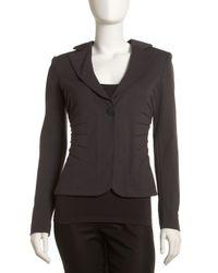 Armani - Black Darted Jersey Jacket - Lyst