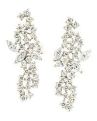 CZ by Kenneth Jay Lane | Metallic Mini Mosaic Cubic Zirconia Earrings | Lyst