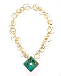 Devon Leigh | Metallic African Turquoise Necklace | Lyst