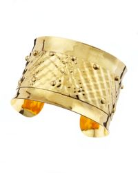 Devon Leigh - Brown Hammered Cuff - Lyst