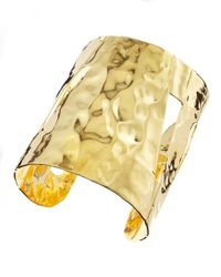 Devon Leigh | Metallic Hammered Gold Cuff | Lyst