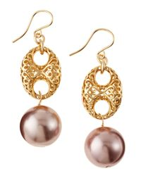 Devon Leigh | Metallic Pearldrop Earrings | Lyst