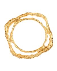 Elie Tahari | Metallic Ella Antiqued Brass Bracelet | Lyst