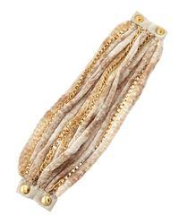 Elie Tahari - Metallic Golden Multichain Bracelet - Lyst