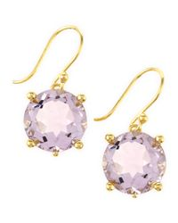 Elizabeth Showers | Purple Rose Amethyst Crystal Earrings | Lyst
