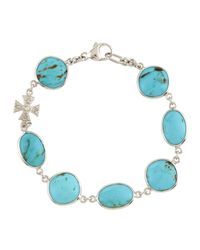 Elizabeth Showers - Blue Turquoise Maltese Cross Bracelet - Lyst