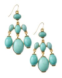 Fragments - Blue Chandelier Stone Earrings - Lyst