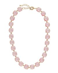Fragments | Metallic Stone Link Necklace Pink | Lyst