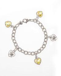 Judith Ripka | Metallic Canary Heart Charm Bracelet | Lyst