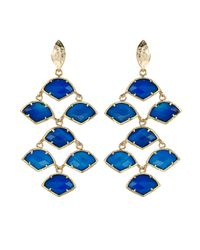 Kendra Scott | Blue Agate Chandelier Earrings | Lyst
