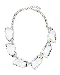 Kenneth Jay Lane | Metallic Chunky Crystal Bib Necklace | Lyst
