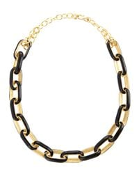 Kenneth Jay Lane - Metallic Enamellink Necklace - Lyst