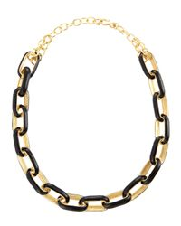 Kenneth Jay Lane | Metallic Enamellink Necklace | Lyst