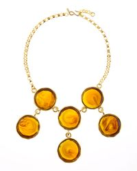 Kenneth Jay Lane | Metallic Sixcircle Bib Necklace | Lyst