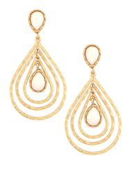 Kenneth Jay Lane - Metallic Teardrop Earrings - Lyst