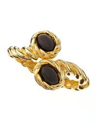 Kenneth Jay Lane | Metallic Twisted Cabochon Bracelet | Lyst