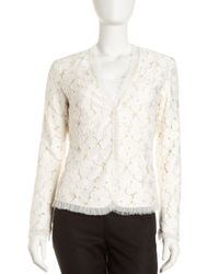 Lafayette 148 New York - White Catalina Lace Keri Jacket - Lyst