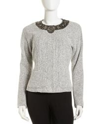 Lafayette 148 New York | Gray Martina Boucle Jacket | Lyst