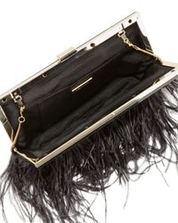 BCBGMAXAZRIA - Ostrich Feather Clutch Black - Lyst