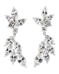 CZ by Kenneth Jay Lane | Brown Marquise Cut Cubic Zirconia Earrings | Lyst