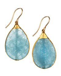Devon Leigh | Blue Quartz Earrings | Lyst