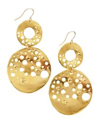Devon Leigh | Metallic Doubledrop Circle Earrings | Lyst