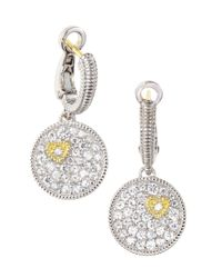 Judith Ripka | Metallic Pave Disc Earrings | Lyst