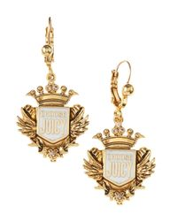 Juicy Couture | Metallic Shield Drop Earrings | Lyst