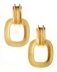 Kenneth Jay Lane | Metallic Opensquare Drop Earrings | Lyst